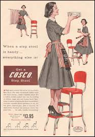 Cosco Retro Chair With Step Stool Black by Housewife Get A Cosco Step Stool 1957 Advertisement Living The