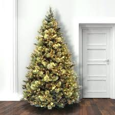 Artificial Trees With Lights 6 8 Ft Slim Christmas Tree Fir Multi Colored Outdoor Tre