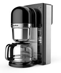Luxury Kitchen With Onyx Black 14 Cup Glass Carafe KitchenAid Coffee Maker Kcm0802 Refined Brew