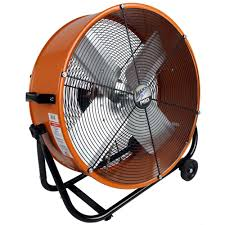 Portable Patio Misting Fans by Maxxair Pro 24 In Industrial Heavy Duty 2 Speed Multi Purpose