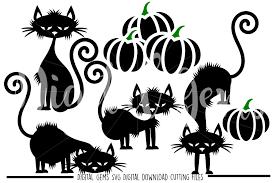 Halloween Black Cat SVG PNG EPS D