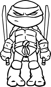 Coloriage Tortue Ninja Donatello à Imprimer Chainimage