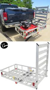 100 Hitches For Trucks MaxxTow 27x47 Cargo Carrier W Pivoting Ramp 2 Extruded
