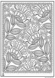 Flowers Pattern Coloring Pages Free