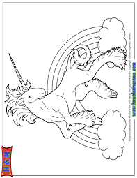 Rainbow Unicorn Drawing Coloring Page