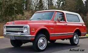 100 Blazer Truck 1969 Chevrolet K5 Red Orange White Top Limited Edition 118