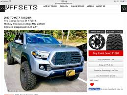 100 What Size Tires Can I Put On My Truck Offset A 17x9 Running A 33s Should Be Tacoma World