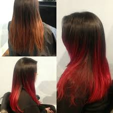 Black To Fire Engine Red Hair