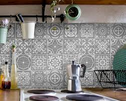 fliesenaufkleber für bad deko u küche portugiesisch grau