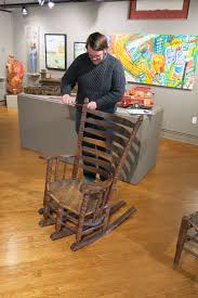 Chester Cornett At The Kentucky Folk Art Center | Lost Art Press Studio 47 Heather Casual Glide Rocker And Ottoman Set With Modern Brayden Saum Rocking Chair Reviews Wayfair Laurel Foundry Farmhouse Gastonville Classic Porch Bungalow Rose Madonna Amazoncom Wood Outdoor Rustic Heavy Midcentury Black In The Style Of Edmond Etsy Nap By Roda Switch Masaya Co Amador Antique Spindle Back Chair Pressed Leather Seat Chairs Chester Cornett Folk Art Oct 21 2017 Cowans