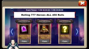 Castle Clash Pumpkin Duke Best Traits by Hire 777 Heroes 115 000 Total Gems For The Goods One Timee Castle