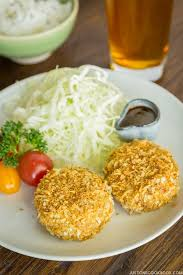 Japanese Pumpkin Croquette Recipe by Baked Croquette 揚げないコロッケ U2022 Just One Cookbook
