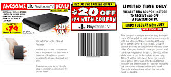 Screenshot] $20 OFF PlayStation TV (Australia) @JB Hi-Fi ... Wp Stealth Site Coupon Discount Code 20 Off Promo Deal Activityhero Flash Sale Amazon Prime Now Singapore October 2019 Save On A Sack Of Grain With This Williams Brewing Hallmark Coupons And Codes Instore Online Specials Chapman Heating Air Cditioning 100 Exclusive Wish Oct Avail 90 Fabfitfun Archives Savvy Subscription 10 Best Shopping Oct Honey Management Woocommerce Docs Up To 25 Off Overstock Deals Support Wine Crime