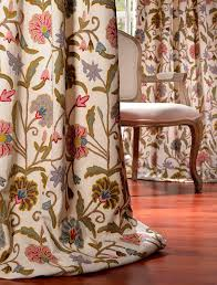 16 best crewel embroidered curtains images on house