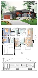 100 3 Level House Designs Modern Plan 7655 Total Living Area 1676 Sq Ft