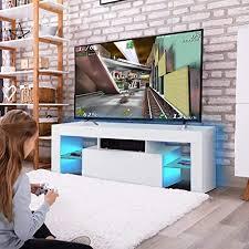 cocoarm fernsehschränke hochglanz led moderne tv lowboard fernsehschrank schrank fernsehtisch weiß hängeschrank wohnzimmer lowboard tisch mit led