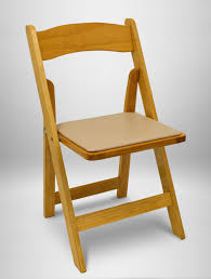 100 Event Folding Chair Natural Wood West Coast Productions Inc