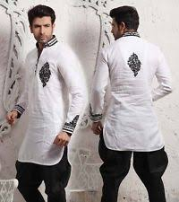 Dress Style New Karhae Design For Eid Weeding Dresses Front And Back Pose Or Men Party Wear Designer Wedding Indowestern Linen Kurta Rider Breeches