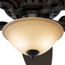 hunter fairhaven 52 in indoor basque black ceiling fan with light