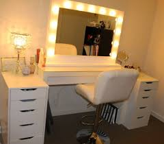 furniture vanity makeup table with lighted mirror home flowers