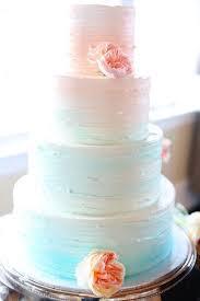 Beach Ombre Wedding Cake