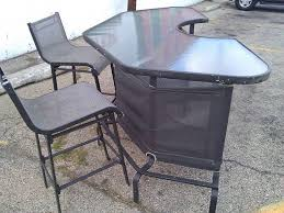 Nice and Solid Patio Bar & Bar Stools