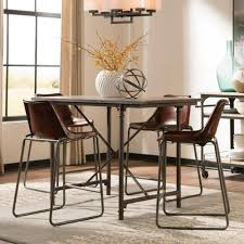 Bluestone Dining Room by Coaster Antonelli Bluestone Counter Height Table With Metal Legs