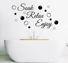 soak relax enjoy badezimmer wandkunst aufkleber pvc