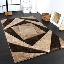 wohnzimmer teppich 3 d karo muster meliert