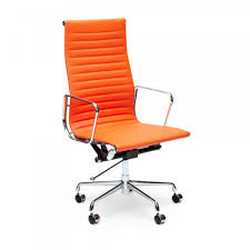 Eames Orange Ribbed Style fice Chair Craft Room