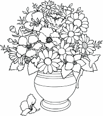Coloring Pages Flowers Free Printable For