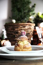 Saran Wrap Christmas Tree by Christmas Cream Puffs With Vanilla U0026 Cranberry U2013 Fork And Flower