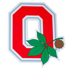 Ohio State Brutus Pumpkin Stencil by Block O Ohio State University Block O With Buckeye Leaf Magnet