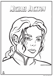 Famous People Coloring Pages Michael Jackson