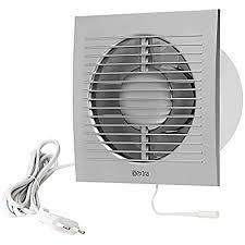 ø 100mm wandventilator lüfter abluft kabel schalter ventilator küche wc bad mit stecker farbe silber