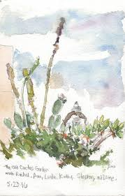 Christmas Tree Recycling Carmel Valley San Diego by Old Cactus Garden Balboa Park San Diego Urban Sketchers