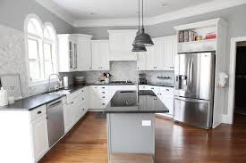 granite countertops with white cabinets for kitchen ideas