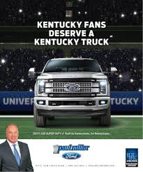Kentucky's Football Season: Better With A Ford Truck - Paul Miller ... 2014 Ford F150 In Lexington Ky Paul Used Cars Under 100 Richmond Miller Named A 2018 Cargurus Top Rated Dealer New Ford Lariat Supercrew 4wd Vin 1ftew1e5xjkf00428 Nissan Frontier Sv Sb Crew Cab 1n6ad0erxjn746618 2019 F250sd Xlt Kentucky Gates Honda Automotive Truck Outlet Buy Here Youtube Southern And 4x4 Center 1431 Charleston Hwy West Toyota Tundra Model Info Greens Of Preowned 2017 Ram 2500 Slt Crew Cab Pickup 20880