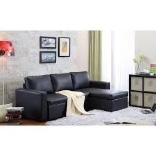 Poundex Bobkona Sectional Sofaottoman by Amazon Com Thy Hom The Hom 2 Piece Black Georgetown Bi Cast