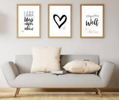 details zu bilder wandbilder wohnzimmer wanddeko bilder set kunstdrucke poster a4 sprüche