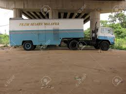 Blue Movie Truck Under The Bridge, Hanyut The Movie, Malaysia Stock ...