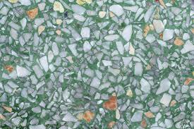 Green Terrazzo Floor Stock Photo
