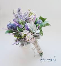 Rustic Wedding Flowers Names Lavender And Lilac Wildflower Bouquet With Lamb S Ear