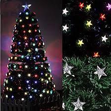 Ziburry Fiber Optic Christmas Tree 4ft Colorful Stars