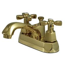 Polished Brass Bathroom Faucets Single Hole by Kingston Brass Ks4262hx Metropolitan 4