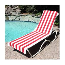 Terry Cloth Lounge Chair Covers With Pillow by Amazon Com J U0026 M Home Fashions Lounge Chair Beach Towel With