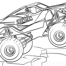 Iron Man Monster Truck Coloring Page Free Printable Pages