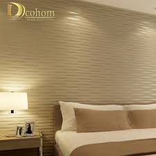 3d stereoscopic beige striped wall paper designs embossed flocking