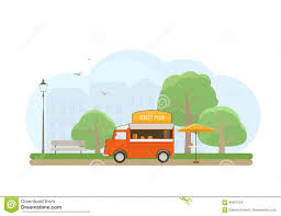 100 Sabinas Cars And Trucks Street Food Truck In City Park Stock Vector Illustration Of