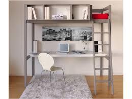 lit mezzanine avec bureau et rangement lit mezzanine giacomo 90x190cm rangements avec bureau gris